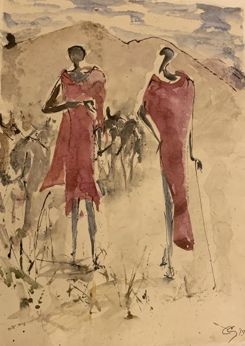 Christine Seifert, Two Maasai (London Gallery)