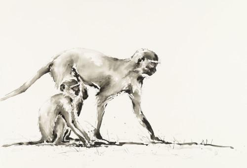 Julia Cassels, Ververt Monkeys (Hungerford Gallery)