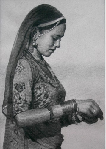 Mark Clark, Rajasthani Woman, Pushkar (Hungerford Gallery)