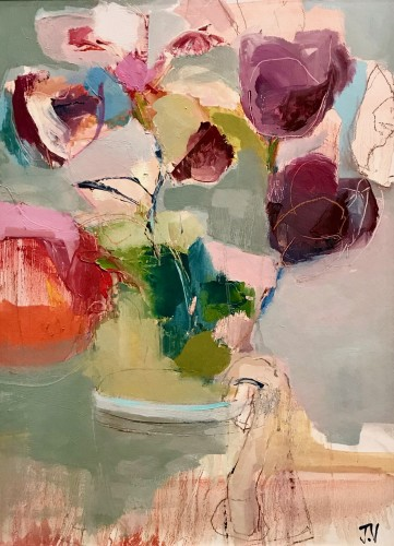 Jo Vollers, Violet Tulips (Hungerford Gallery)