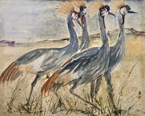Christine Seifert, Crested Crane Sunday (Hungerford Gallery)
