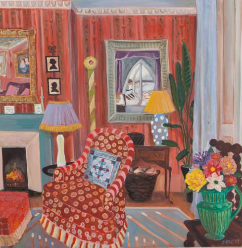Lottie Cole, Interior with Winifred Nicholson (London Gallery)