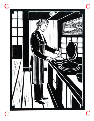 Dione Verulam, c is for cooking (Unframed)