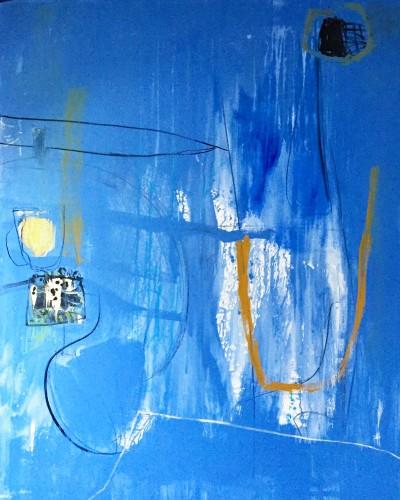 Felice Hodges, Blue Sink (Unframed) (London Gallery)