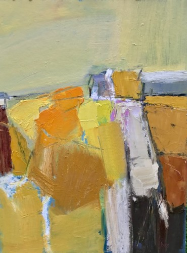 Dafila Scott, Landscape in Yellow (Hungerford Gallery)