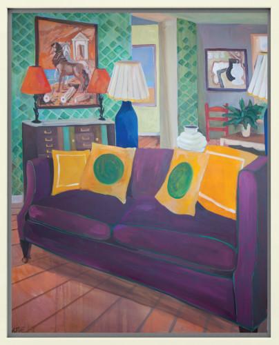 Lottie Cole, Interior with De Chirico and Dismorr (London Gallery)