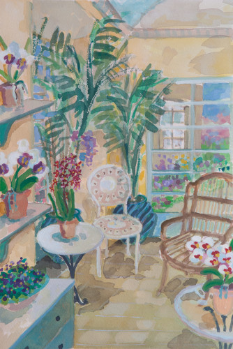Lottie Cole, Orangery Interior (Hungerford Gallery)