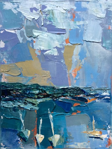 Emma Haggas, Sailboats (Hungerford Gallery)