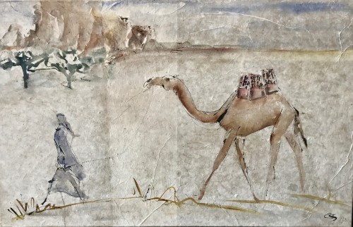 Christine Seifert, Leading Camel (Framed) (Hungerford Gallery)