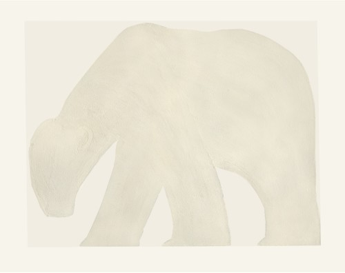 Kate Boxer, Polar Bear - White (Unframed)