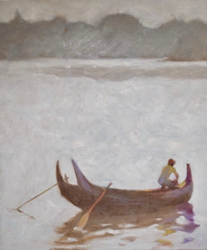 Clare Granger, Preparing the Boat (Hungerford Gallery)