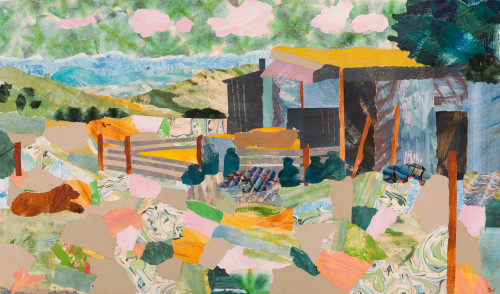 Dione Verulam, Shepherds' Hut in Summer Pastures (Hungerford Gallery)