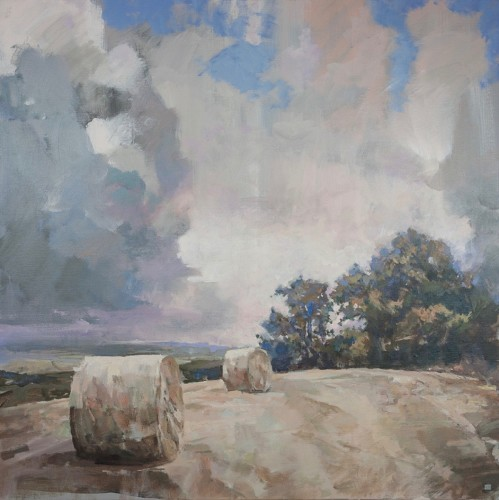 Andrew Jago, Field of Round Bales No. 2 (Hungerford Gallery)