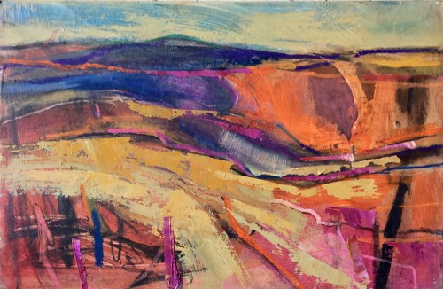 Emma Haggas, Landscape in Orange (Hungerford Gallery)
