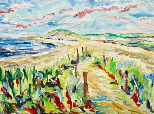 Fi Katzler, East Head from West Wittering (London Gallery)