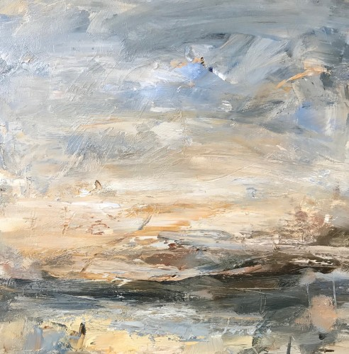 Louise Balaam, Blue and Gold, Mull (Hungerford Gallery)