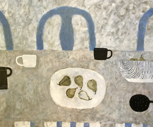 Sarah Bowman, Ripple Bowl and Pears (London Gallery)