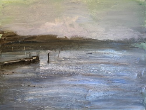 Richard Colson, Barge at Woodbridge I (Hungerford Gallery)