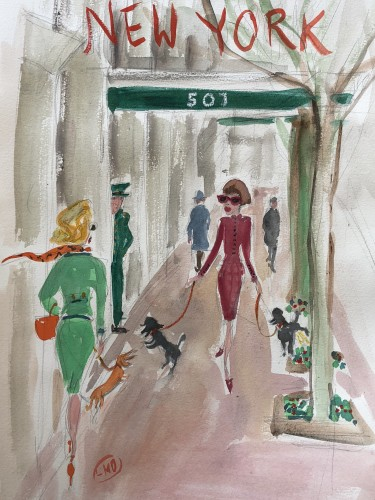 Lucy Dickens, New Yorkers out with their Little Dogs