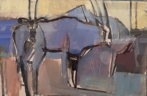 Dafila Scott, Gemsbok Resting (London Gallery)
