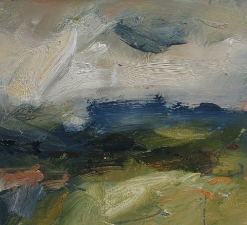 Louise Balaam, Blue and Green Downs, Hazy Afternoon (London Gallery)