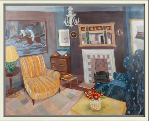 Lottie Cole, Interior with Ghost Riders, David Hockney, Prunella Clough, Janet Leach and Bernard Leach