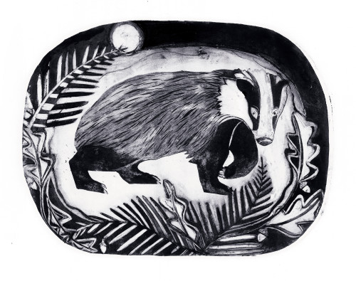 Beatrice Forshall, Badger (Unframed)