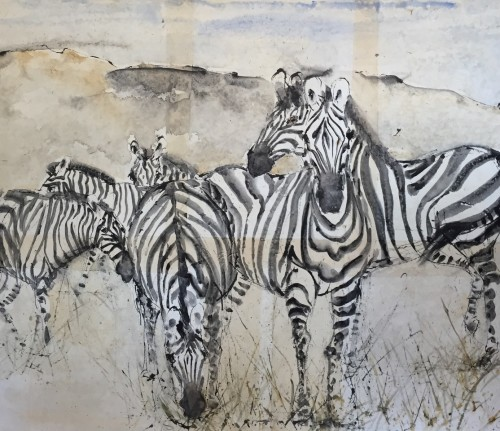 Christine Seifert, Zebras II (London Gallery)