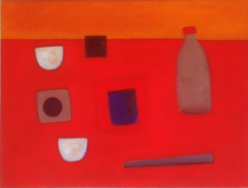 Colin Williams, Still Life Abstract on Red (Hungerford Gallery)