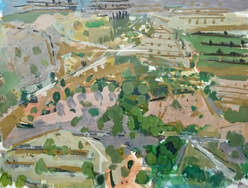 Ian Norris, Hillside Terraces (Hungerford Gallery)