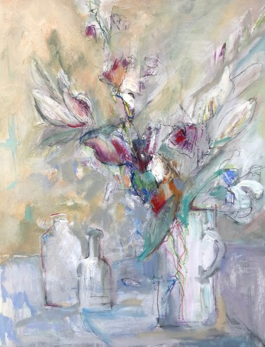 Annie Field, Glass Jug with Flowers