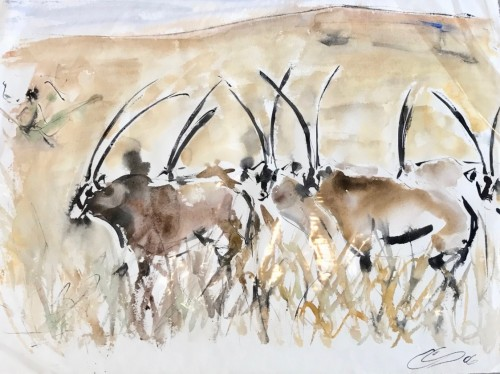 Christine Seifert, Oryx Herd (Hungerford Gallery)