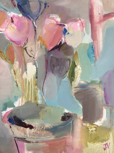 Jo Vollers, Spring Tulips (Hungerford Gallery)