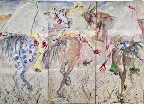 Christine Seifert, Three Ethiopian Gallop Triptych (London Gallery)