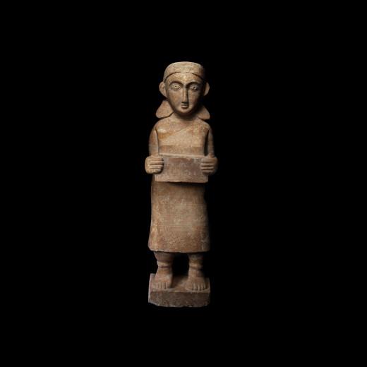 MONUMENTAL SABEAN STATUETTE