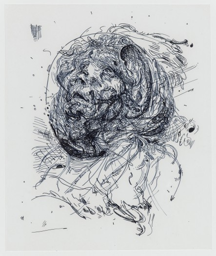 Glenn Brown, Drawing 1 (after Greuze), 2014