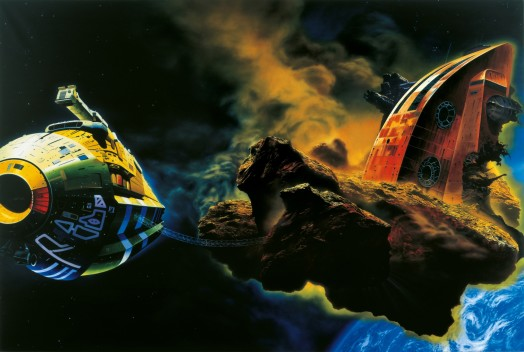 Glenn Brown, Ornamental Despair (Painting for Ian Curtis) copied from 'Asteriod Hunters' 1971 by Chris Foss, 1994