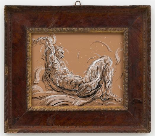 Glenn Brown, Drawing 4 (after Delacroix), 2019