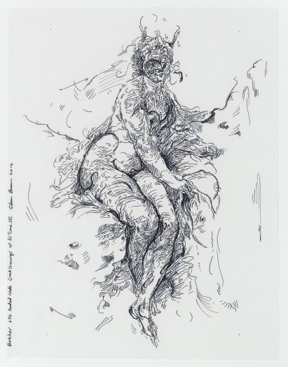 Glenn Brown, Drawing 23 (after Boucher), 2014