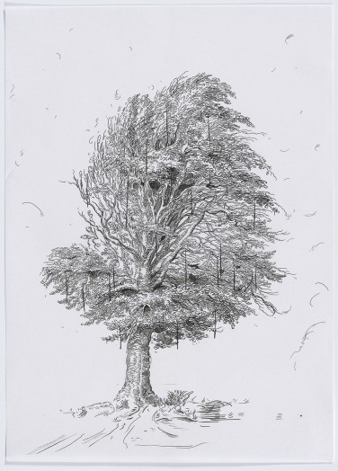 Glenn Brown, Drawing 29 (after De Gheyn II), 2015