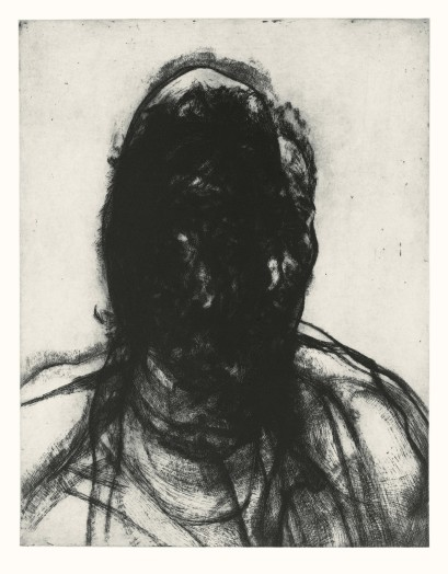 Glenn Brown, Layered Portrait (after Lucian Freud) 7, 2008