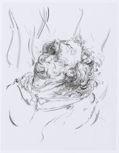 Glenn Brown, Drawing 39 (after Grünewald), 2015
