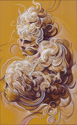 Glenn Brown, Myths of the Near Future (Painting for Georgiana Houghton), 2019