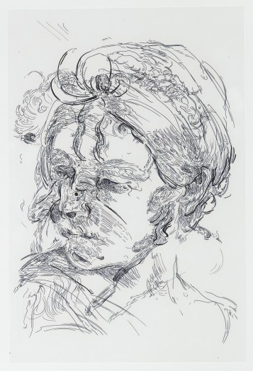 Glenn Brown, Drawing 45 (after Reni), 2014