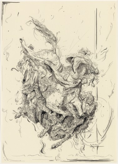 Glenn Brown, Drawing 30 (after Delacroix), 2015