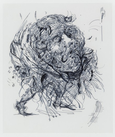 Glenn Brown, Drawing 11 (after Greuze/Rubens), 2014