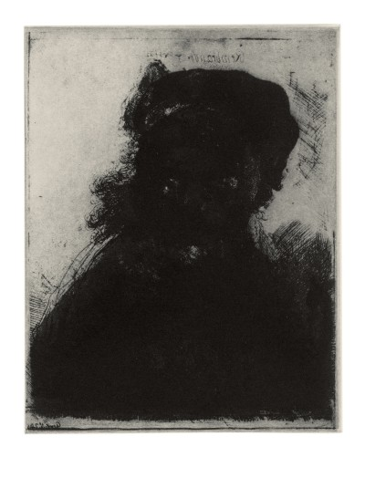 Glenn Brown, Layered Portraits (after Rembrandt) 6, 2008