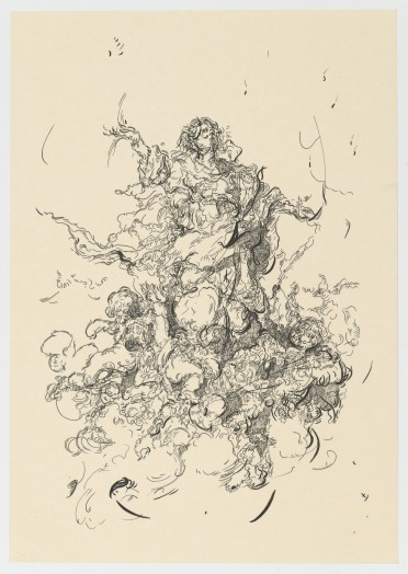 Glenn Brown, Drawing 10 (after Murillo/Murillo), 2015