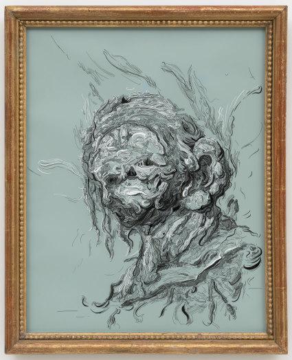 Glenn Brown, Drawing 9 (after Baselitz), 2017