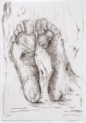 Glenn Brown, Drawing 19 (after Dürer), 2015